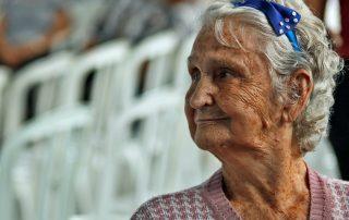 Older woman alone
